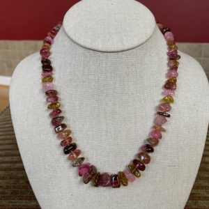 Shop Tourmaline Necklaces! TOURMALINE Necklace – Elbaite with Rubellite – Raw Crystals – Gem Stones – Natural Stone Chips – Jewelry Gift – Healing Crystal- From Russia | Natural genuine Tourmaline necklaces. Buy crystal jewelry, handmade handcrafted artisan jewelry for women.  Unique handmade gift ideas. #jewelry #beadednecklaces #beadedjewelry #gift #shopping #handmadejewelry #fashion #style #product #necklaces #affiliate #ad