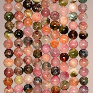 Shop Tourmaline Round Beads! 5-6mm Genuine Tourmaline Gemstone Pink Green Orange Grade AA Multi Color Round Loose Beads 15.5 inch Full Strand (80005671-474) | Natural genuine round Tourmaline beads for beading and jewelry making.  #jewelry #beads #beadedjewelry #diyjewelry #jewelrymaking #beadstore #beading #affiliate #ad