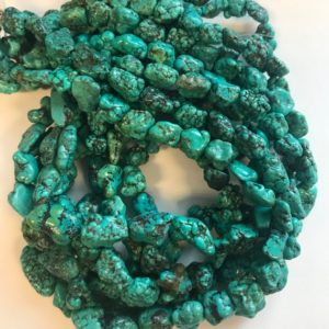 "Shop Turquoise Chip & Nugget Beads! 100% Natural Turquoise 7-18mm Nugget Gemstone Beads -15.5""–1 strand/3 strands–#79 