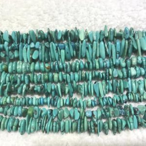 Shop Turquoise Chip & Nugget Beads! Natural Turquoise 5-8mm Chips Genuine Green Loose Beads 15 inch Jewelry Supply Bracelet Necklace Material Support Wholesale | Natural genuine chip Turquoise beads for beading and jewelry making.  #jewelry #beads #beadedjewelry #diyjewelry #jewelrymaking #beadstore #beading #affiliate #ad