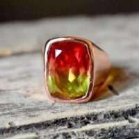 Watermelon Tourmaline Ring , Faceted Tourmaline Signet Ring , 925 Sterling Silver , Unisex Ring , Mens Ring , Tourmaline Gemstone | Natural genuine Gemstone jewelry. Buy handcrafted artisan men's jewelry, gifts for men.  Unique handmade mens fashion accessories. #jewelry #beadedjewelry #beadedjewelry #shopping #gift #handmadejewelry #jewelry #affiliate #ad