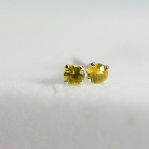 Shop Yellow Sapphire Earrings! yellow sapphire earrings | sapphire studs, sterling silver, 3mm, small earrings,september birthstone, natural sapphire, stud earrings,child | Natural genuine Yellow Sapphire earrings. Buy crystal jewelry, handmade handcrafted artisan jewelry for women.  Unique handmade gift ideas. #jewelry #beadedearrings #beadedjewelry #gift #shopping #handmadejewelry #fashion #style #product #earrings #affiliate #ad