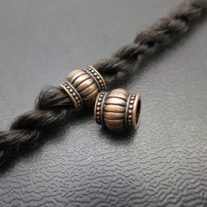 Shop Dread Beads! 2PCS Antique red bronze dread beads Dreadlock hair Jewelry Making Accessories 5.5mm hole | Natural genuine beads Gemstone beads for beading and jewelry making.  #jewelry #beads #beadedjewelry #diyjewelry #jewelrymaking #beadstore #beading #affiliate #ad