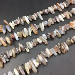 "Shop Agate Chip & Nugget Beads! Natural Botswana Agate Chip Beads Banded Agate Stick Spike Beads Shard Beads Polished Botswana Agate Bead Supplies 10-20mm 15.5"" full strand 