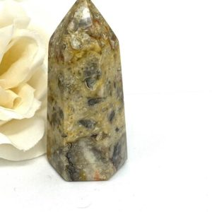 Shop Agate Points & Wands! Crazy Lace  Agate Tower | Point |Stone of Joy | CD418 | Natural genuine stones & crystals in various shapes & sizes. Buy raw cut, tumbled, or polished gemstones for making jewelry or crystal healing energy vibration raising reiki stones. #crystals #gemstones #crystalhealing #crystalsandgemstones #energyhealing #affiliate #ad