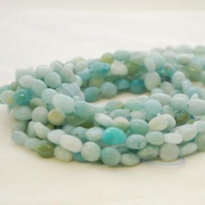 """Shop Amazonite Chip & Nugget Beads! High Quality Grade A Natural Amazonite Semi-Precious Gemstone Tumbled Stone Nugget Pebble Beads – approx 5mm – 8mm – 15.5"""" strand   Natural genuine chip Amazonite beads for beading and jewelry making.  #jewelry #beads #beadedjewelry #diyjewelry #jewelrymaking #beadstore #beading #affiliate #ad"""