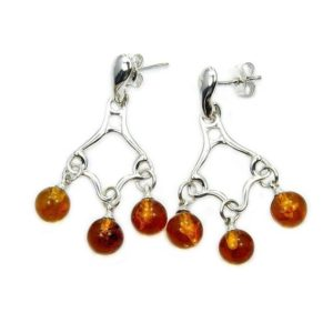 Shop Amber Earrings! Chandelier Amber Earrings & Sterling Silver AA867 The Silver Plaza | Natural genuine Amber earrings. Buy crystal jewelry, handmade handcrafted artisan jewelry for women.  Unique handmade gift ideas. #jewelry #beadedearrings #beadedjewelry #gift #shopping #handmadejewelry #fashion #style #product #earrings #affiliate #ad