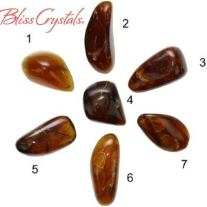 1 AMBER Red Fire Polished Tumbled Stone Organic Shape Mayan Genuine Mexican Amber Natural Healing Crystal and Stone Jewelry Craft #AM35 | Natural genuine stones & crystals in various shapes & sizes. Buy raw cut, tumbled, or polished gemstones for making jewelry or crystal healing energy vibration raising reiki stones. #crystals #gemstones #crystalhealing #crystalsandgemstones #energyhealing #affiliate #ad