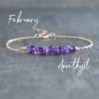 Raw Amethyst Bracelet, Amethyst Jewelry, February Birthstone Bracelet, Healing Amethyst Gemstone Bracelet Gifts For Women, Purple Bracelet | Natural genuine Gemstone jewelry. Buy crystal jewelry, handmade handcrafted artisan jewelry for women.  Unique handmade gift ideas. #jewelry #beadedjewelry #beadedjewelry #gift #shopping #handmadejewelry #fashion #style #product #jewelry #affiliate #ad