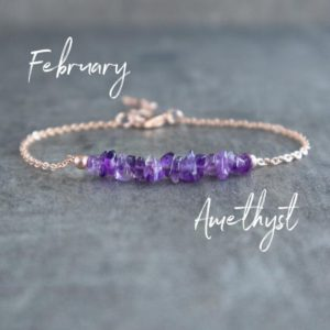 Raw Amethyst Bracelet, Amethyst Jewelry, February Birthstone Bracelet, Healing Amethyst Gemstone Bracelet Gifts for Women, Purple Bracelet | Natural genuine Amethyst bracelets. Buy crystal jewelry, handmade handcrafted artisan jewelry for women.  Unique handmade gift ideas. #jewelry #beadedbracelets #beadedjewelry #gift #shopping #handmadejewelry #fashion #style #product #bracelets #affiliate #ad