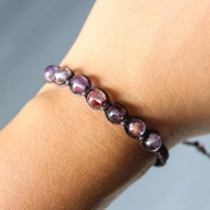 Shop Amethyst Bracelets! Super 7 Gemstone Bracelet | Natural genuine Amethyst bracelets. Buy crystal jewelry, handmade handcrafted artisan jewelry for women.  Unique handmade gift ideas. #jewelry #beadedbracelets #beadedjewelry #gift #shopping #handmadejewelry #fashion #style #product #bracelets #affiliate #ad