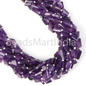 Shop Amethyst Chip & Nugget Beads! Amethyst Faceted Nugget Fancy Beads, Amethyst Nugget Beads, Amethyst Faceted Nuggets Beads, Natural Amethyst Fancy Beads, Amethyst Beads | Natural genuine chip Amethyst beads for beading and jewelry making.  #jewelry #beads #beadedjewelry #diyjewelry #jewelrymaking #beadstore #beading #affiliate #ad