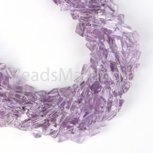 Shop Amethyst Chip & Nugget Beads! Pink Amethyst Faceted Nugget Fancy Beads, Amethyst Nugget Beads, Pink Amethyst Faceted Nuggets Beads, Amethyst Beads, Pink Amethyst Beads | Natural genuine chip Amethyst beads for beading and jewelry making.  #jewelry #beads #beadedjewelry #diyjewelry #jewelrymaking #beadstore #beading #affiliate #ad