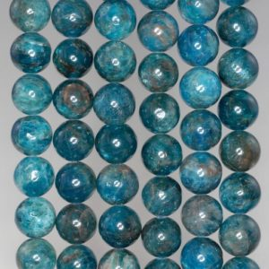 Shop Apatite Round Beads! 9MM Connoisseur Blue Apatite Gemstone Grade A Round 9MM Loose Beads 7.5 inch Half Strand (90183030-117) | Natural genuine round Apatite beads for beading and jewelry making.  #jewelry #beads #beadedjewelry #diyjewelry #jewelrymaking #beadstore #beading #affiliate #ad