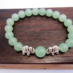 Shop Aventurine Bracelets! Green Aventurine Elephant Bracelet Heart Chakra Elephant Bracelet Healing Green Aventurine Yoga Bracelet Green Aventurine Good Luck Bracelet | Natural genuine Aventurine bracelets. Buy crystal jewelry, handmade handcrafted artisan jewelry for women.  Unique handmade gift ideas. #jewelry #beadedbracelets #beadedjewelry #gift #shopping #handmadejewelry #fashion #style #product #bracelets #affiliate #ad
