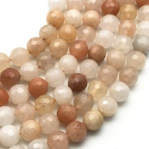 Shop Aventurine Faceted Beads! 10mm Faceted Pink Aventurine Beads, Round Gemstone Beads, Wholesale Beads | Natural genuine faceted Aventurine beads for beading and jewelry making.  #jewelry #beads #beadedjewelry #diyjewelry #jewelrymaking #beadstore #beading #affiliate #ad