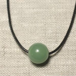 Shop Aventurine Pendants! Necklace pendant gemstone – green Aventurine ball 14mm | Natural genuine Aventurine pendants. Buy crystal jewelry, handmade handcrafted artisan jewelry for women.  Unique handmade gift ideas. #jewelry #beadedpendants #beadedjewelry #gift #shopping #handmadejewelry #fashion #style #product #pendants #affiliate #ad