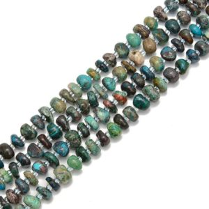 Shop Azurite Chip & Nugget Beads! Natural Azurite Pebble Nugget Slice Chips Beads Size 8-9mm 15.5'' per Strand | Natural genuine chip Azurite beads for beading and jewelry making.  #jewelry #beads #beadedjewelry #diyjewelry #jewelrymaking #beadstore #beading #affiliate #ad