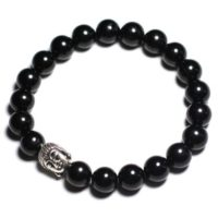 Buddha And Gemstone – Black Tourmaline Bracelet | Natural genuine Gemstone jewelry. Buy crystal jewelry, handmade handcrafted artisan jewelry for women.  Unique handmade gift ideas. #jewelry #beadedjewelry #beadedjewelry #gift #shopping #handmadejewelry #fashion #style #product #jewelry #affiliate #ad