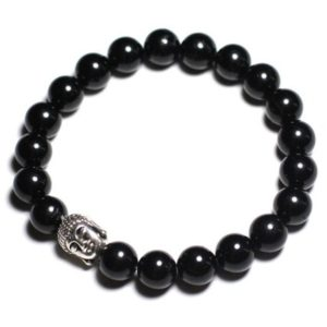 Buddha and gemstone – black Tourmaline bracelet | Natural genuine Gemstone bracelets. Buy crystal jewelry, handmade handcrafted artisan jewelry for women.  Unique handmade gift ideas. #jewelry #beadedbracelets #beadedjewelry #gift #shopping #handmadejewelry #fashion #style #product #bracelets #affiliate #ad