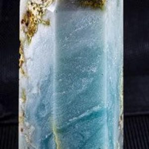 """Shop Calcite Points & Wands! Caribbean Blue Calcite Tower 4.9"""" tall and weighs 1.79pounds 