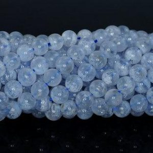 Shop Blue Lace Agate Beads! 6MM Chalcedony Blue Lace Agate Gemstone Blue AA Round 6MM Loose Beads 15.5 inch Full Strand (90183789-368) | Natural genuine beads Blue Lace Agate beads for beading and jewelry making.  #jewelry #beads #beadedjewelry #diyjewelry #jewelrymaking #beadstore #beading #affiliate #ad