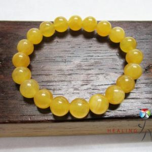 Golden Yellow Calcite Bracelet Yellow Gemstone Bracelet Yellow Golden Calcite Solar Plexus Chakra Bracelet Golden Calcite Study Bracelet | Natural genuine Calcite bracelets. Buy crystal jewelry, handmade handcrafted artisan jewelry for women.  Unique handmade gift ideas. #jewelry #beadedbracelets #beadedjewelry #gift #shopping #handmadejewelry #fashion #style #product #bracelets #affiliate #ad
