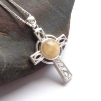Gemstone Cross, Celtic Cross Necklace, Natural Carnelian Cross, Handcrafted Peach Stone, Silver, Christian Pendant, Lapidary, Christmas Gift | Natural genuine Gemstone jewelry. Buy crystal jewelry, handmade handcrafted artisan jewelry for women.  Unique handmade gift ideas. #jewelry #beadedjewelry #beadedjewelry #gift #shopping #handmadejewelry #fashion #style #product #jewelry #affiliate #ad