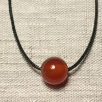 Necklace Pendant Gemstone – Carnelian Ball 14mm | Natural genuine Gemstone jewelry. Buy crystal jewelry, handmade handcrafted artisan jewelry for women.  Unique handmade gift ideas. #jewelry #beadedjewelry #beadedjewelry #gift #shopping #handmadejewelry #fashion #style #product #jewelry #affiliate #ad
