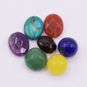 Shop Chakra Beads! CH05 ~ Chakra Beads (8-14mm) ~ 7/pkg | Shop jewelry making and beading supplies, tools & findings for DIY jewelry making and crafts. #jewelrymaking #diyjewelry #jewelrycrafts #jewelrysupplies #beading #affiliate #ad