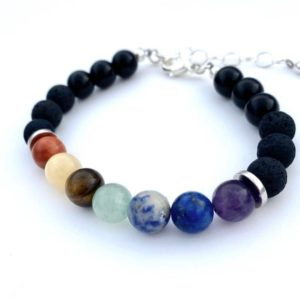 Shop Chakra Bracelets! Chakra Bracelet, Natural Stone Beaded Bracelet, Chakra Beads, Boho Fashion Bracelet | Shop jewelry making and beading supplies, tools & findings for DIY jewelry making and crafts. #jewelrymaking #diyjewelry #jewelrycrafts #jewelrysupplies #beading #affiliate #ad