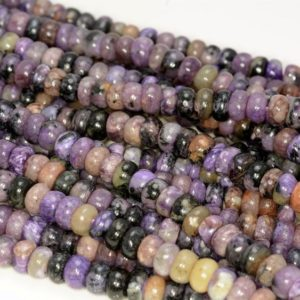 Shop Charoite Rondelle Beads! 7x4MM Purple Genuine Charoite  Gemstone Grade A Rondelle  Loose Beads 15.5 inch Full Strand (80009748-A181) | Natural genuine rondelle Charoite beads for beading and jewelry making.  #jewelry #beads #beadedjewelry #diyjewelry #jewelrymaking #beadstore #beading #affiliate #ad