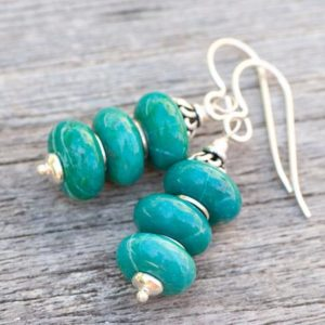 Shop Chrysocolla Earrings! Chrysocolla Earrings, Turquoise Earrings, Turquoise Natural Stone Earrings, 925 Sterling Silver, Balancing Energy, Chakra Healing Stones | Natural genuine Chrysocolla earrings. Buy crystal jewelry, handmade handcrafted artisan jewelry for women.  Unique handmade gift ideas. #jewelry #beadedearrings #beadedjewelry #gift #shopping #handmadejewelry #fashion #style #product #earrings #affiliate #ad