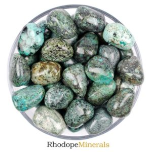 Shop Tumbled Chrysocolla Crystals & Pocket Stones! One Chrysocolla Tumbled Stone, Chrysocolla Tumbled Stones, Tumbled Stones Chrysocolla, Zodiac Chrysocolla Stones, Healing Chrysocolla Stones | Natural genuine stones & crystals in various shapes & sizes. Buy raw cut, tumbled, or polished gemstones for making jewelry or crystal healing energy vibration raising reiki stones. #crystals #gemstones #crystalhealing #crystalsandgemstones #energyhealing #affiliate #ad