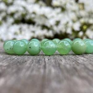Shop Chrysoprase Bracelets! Chunky Opaque Chrysoprase Bracelet 10mm Grade A Natural Chrysoprase Beaded Gemstone Bracelet With Inclusion Stack Bracelet Unisex Bracelet | Natural genuine Chrysoprase bracelets. Buy crystal jewelry, handmade handcrafted artisan jewelry for women.  Unique handmade gift ideas. #jewelry #beadedbracelets #beadedjewelry #gift #shopping #handmadejewelry #fashion #style #product #bracelets #affiliate #ad