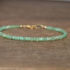 Shaded Chrysoprase Bracelet, Chrysoprase Jewelry, Dainty, Minimalist, Gemstone Jewelry | Natural genuine Chrysoprase bracelets. Buy crystal jewelry, handmade handcrafted artisan jewelry for women.  Unique handmade gift ideas. #jewelry #beadedbracelets #beadedjewelry #gift #shopping #handmadejewelry #fashion #style #product #bracelets #affiliate #ad