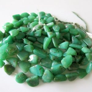 Shop Chrysoprase Chip & Nugget Beads! Chrysoprase Tumble Beads, Natural Chrysoprase Smooth Tumbles, 11mm To 22mm, 15 Inch Strand, GDS17 | Natural genuine chip Chrysoprase beads for beading and jewelry making.  #jewelry #beads #beadedjewelry #diyjewelry #jewelrymaking #beadstore #beading #affiliate #ad
