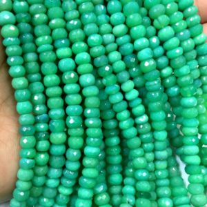 Shop Chrysoprase Faceted Beads! CLOSEOUT SALE! Chrysoprase Faceted Rondelle Beads Chrysoprase Beads Apple Green Colour Beads 6-7.MM Beads Top Quality Total 10 Strands | Natural genuine faceted Chrysoprase beads for beading and jewelry making.  #jewelry #beads #beadedjewelry #diyjewelry #jewelrymaking #beadstore #beading #affiliate #ad