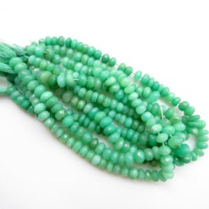 Shop Chrysoprase Faceted Beads! Chrysoprase Rondelles Beads, Natural Chrysoprase Faceted Rondelle Beads Loose, 7mm To 8mm Chrysoprase Beads, Sold As 10 Inches, GDS1327 | Natural genuine faceted Chrysoprase beads for beading and jewelry making.  #jewelry #beads #beadedjewelry #diyjewelry #jewelrymaking #beadstore #beading #affiliate #ad