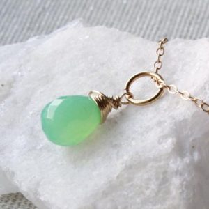 Shop Chrysoprase Jewelry! Chrysoprase Pendant Necklace, Gold Filled wire wrapped mint green gemstone dainty charm, May birthstone mother's day gift for her women 4474 | Natural genuine Chrysoprase jewelry. Buy crystal jewelry, handmade handcrafted artisan jewelry for women.  Unique handmade gift ideas. #jewelry #beadedjewelry #beadedjewelry #gift #shopping #handmadejewelry #fashion #style #product #jewelry #affiliate #ad