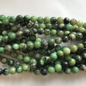 Shop Chrysoprase Round Beads! Natural Chrysoprase Round 8mm Gemstone Bead -15 Inch Strand 1 Strand / 3 Strands | Natural genuine round Chrysoprase beads for beading and jewelry making.  #jewelry #beads #beadedjewelry #diyjewelry #jewelrymaking #beadstore #beading #affiliate #ad
