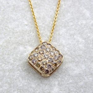Shop Diamond Jewelry! Champagne and yellow diamonds pendant, diamond pendant, solid 14K gold diamond pendant, natural color diamonds, timeless classical pendant | Natural genuine Diamond jewelry. Buy crystal jewelry, handmade handcrafted artisan jewelry for women.  Unique handmade gift ideas. #jewelry #beadedjewelry #beadedjewelry #gift #shopping #handmadejewelry #fashion #style #product #jewelry #affiliate #ad