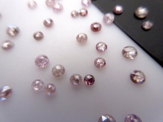5 Pieces 2mm To 3mm Pink Rose Cut Diamonds, Rose Cut Diamond Ring, Rose Cut Cabochon, Loose Diamonds, Dds415/2