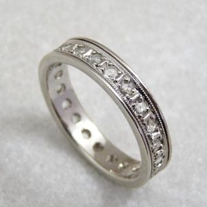 Rose cut Diamond eternity band, rose cut diamond ring, eternity ring Gemstone ring, gold gemstone ring, natural white rosecut diamond ring | Natural genuine Gemstone rings, simple unique handcrafted gemstone rings. #rings #jewelry #shopping #gift #handmade #fashion #style #affiliate #ad