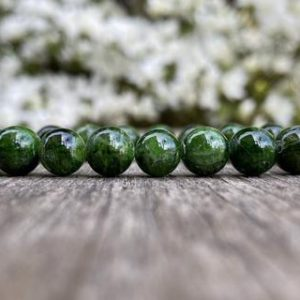 Shop Diopside Bracelets! Chrome Diopside Bracelet 9mm Green Chrome Diopside Beaded Natural Gemstone Bracelet Unisex Bracelet Peace & Tranquility Bracelet | Natural genuine Diopside bracelets. Buy crystal jewelry, handmade handcrafted artisan jewelry for women.  Unique handmade gift ideas. #jewelry #beadedbracelets #beadedjewelry #gift #shopping #handmadejewelry #fashion #style #product #bracelets #affiliate #ad