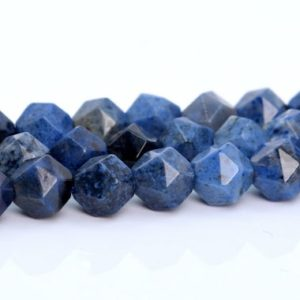Shop Dumortierite Beads! Blue Dumortierite Beads Star Cut Faceted Grade AAA Genuine Natural Gemstone Loose Beads 6MM 8MM 9-10MM Bulk Lot Options | Natural genuine faceted Dumortierite beads for beading and jewelry making.  #jewelry #beads #beadedjewelry #diyjewelry #jewelrymaking #beadstore #beading #affiliate #ad