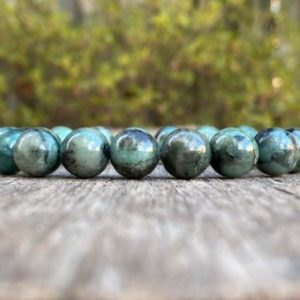 Shop Emerald Bracelets! Chunky Emerald Bracelet 11mm Natural Emerald With Black Inclusion Beaded Gemstone Bracelet Love & Contentment Bracelet Jewelry Gift Bracelet | Natural genuine Emerald bracelets. Buy crystal jewelry, handmade handcrafted artisan jewelry for women.  Unique handmade gift ideas. #jewelry #beadedbracelets #beadedjewelry #gift #shopping #handmadejewelry #fashion #style #product #bracelets #affiliate #ad
