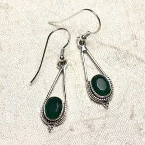 Shop Emerald Earrings! BO212 – stone Emerald and 925 Sterling Silver earrings drop 30mm | Natural genuine Emerald earrings. Buy crystal jewelry, handmade handcrafted artisan jewelry for women.  Unique handmade gift ideas. #jewelry #beadedearrings #beadedjewelry #gift #shopping #handmadejewelry #fashion #style #product #earrings #affiliate #ad