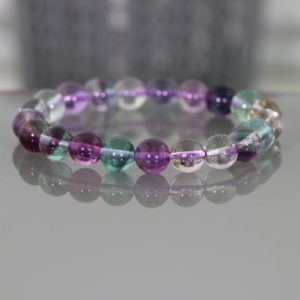 Shop Fluorite Bracelets! Fluorite Stretch Bracelet, 8MM Fluorite Healing Bracelet, Beaded Bracelet, Meditation Bracelet, Boho Bracelet, Rainbow Fluorite Bracelet | Natural genuine Fluorite bracelets. Buy crystal jewelry, handmade handcrafted artisan jewelry for women.  Unique handmade gift ideas. #jewelry #beadedbracelets #beadedjewelry #gift #shopping #handmadejewelry #fashion #style #product #bracelets #affiliate #ad