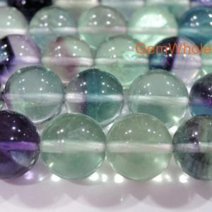 "15.5"" 8mm/10mm/12mm Natural rainbow fluorite round beads, Top quality semi-precious stone, DIY beads, multi color gemstone, 